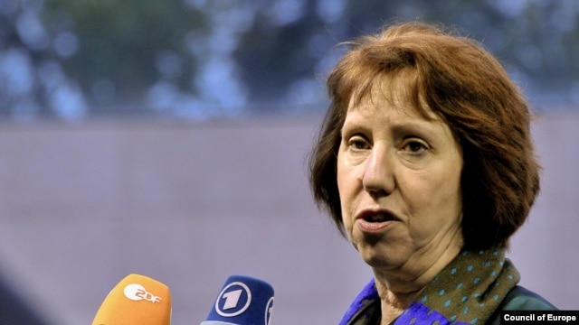 EU foreign policy chief Catherine Ashton: 'We will continue to keep up the pressure.'