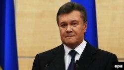 Украинаның бұрынғы президенті Виктор Янукович. Дондағы Ростов, 11 наурыз 2014 жыл.
