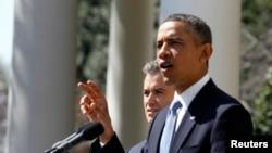 Президент США Барак Обама. Вашингтон, 10 апреля 2013 года.