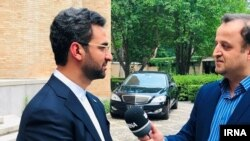 Iranian minister of communications Mohammad Javad Jahromi in Beijing, July 4 2019.
