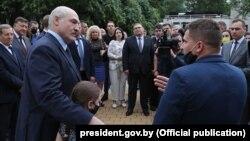 Аляксандар Лукашэнка ў Берасьці, 22 чэрвеня