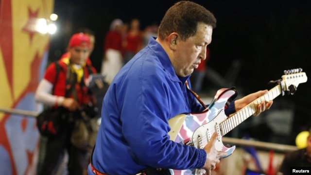 The late Venezuelan president was often seen singing and strumming a guitar.
