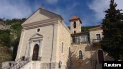 كنيسة أرمنية في مدينة كسب السورية التي هاجمها مقاتلون - 24 آذار 2014