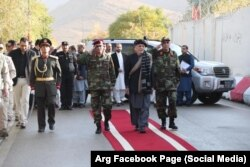 Ashraf Ghani visited Paktia's provincial center Gardez in late October.