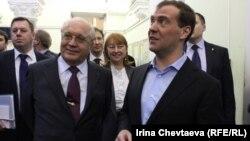 Дмитрий Медведев на факультете журналистики МГУ