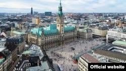 Вид на город Гамбург.