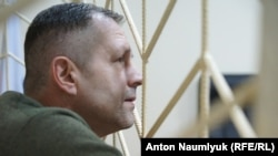 Український активіст Володимир Балух під час засідання Роздольненського суду в Криму, 7 листопада 2017 року