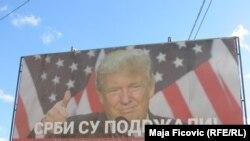 Bilbordi podrške Trampu u Beogradu i Severnoj Mitrovici