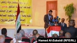 جانب من أعمال مؤتمر المصالحة الوطنية في ناحية القوش شمال شرق الموصل