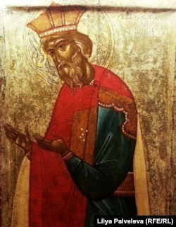"""Икона """"Владимир, равноапостольный князь"""", XV век. Новгород"""