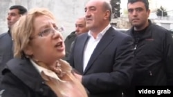 Leyla Yunus (left), the head of Peace and Democracy İnstitute and a fierce critic of Azerbaijan's poor rights record, was arrested on July 30.