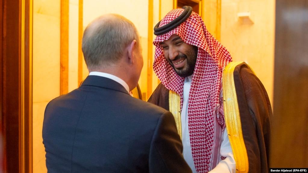 Встреча президента России Владимира Путина и наследного принца Саудовской Аравии Мухаммеда бен Салмана в Эр-Рияде, 14 октября 2019 года