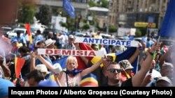 România protestul diasporei debutează sub semnul violenței