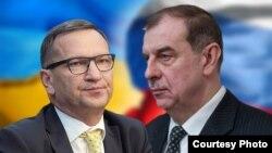 Послы Украины и России в Кыргызстане Николай Дорошенко (слева) и Андрей Крутько.