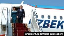 Президент Шавкат Мирзиёев жубайы менен.