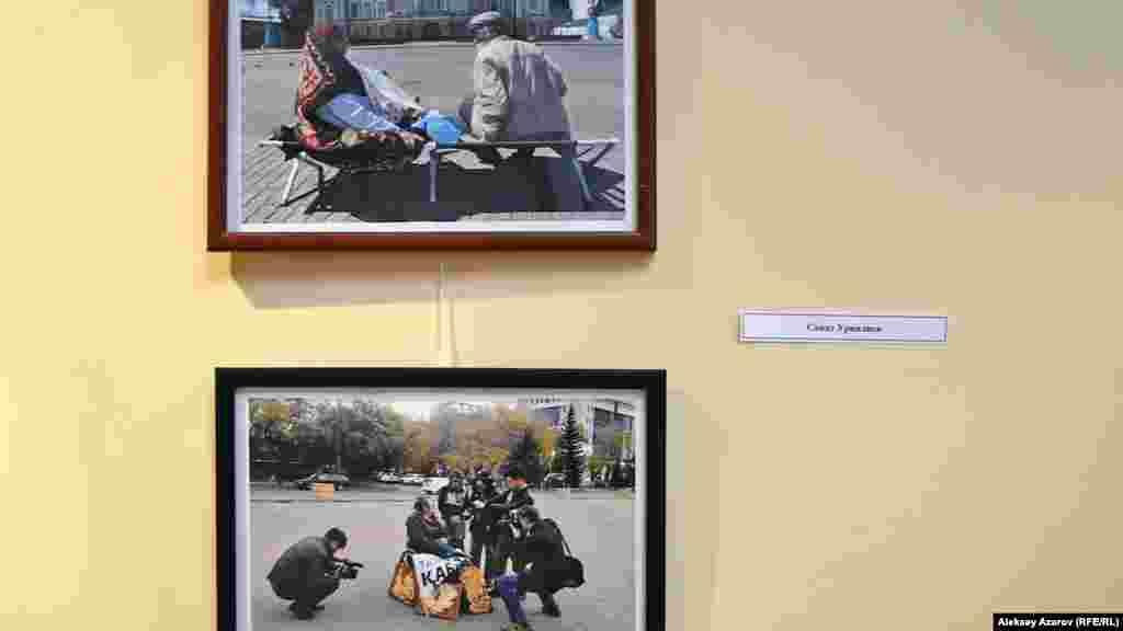 Среди участников и победителей фотоконкурса – корреспондент Азаттыка в Западно-Казахстанской области Санат Урналиев. На его фотографиях запечатлены акции протеста на площади перед областным акиматом.