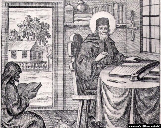 Зображення Нестора-Літописця на роботі Леонтія Тарасевича, гравера кінця XVII – початку XVIII століття