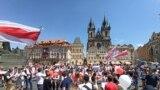 Акцыя салідарнасьці ў Празе, 27 чэрвеня 2020
