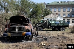 Знищена військова техніка в Іловайську. Вересень 2014 року