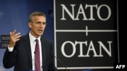 """NATO Secretary-General Jens Stoltenberg said NATO """"remains committed to closer cooperation with the EU,"""" and that a """"strong, united, and determined NATO remains an essential pillar of stability in a turbulent world."""""""