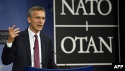 NATO Secretary-General Jens Stoltenberg said the alliance and Russia weren't able to agree to hold a meeting before the summit, as NATO had wanted.