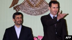 دیدار اسد با احمدی نژاد در دمشق. عکس تزئینی است.