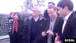დანიის სამეფოს პარლამენტის, ევროსაბჭოს საპარლამენტო დელეგაციის მუდმივმოქმედი დელეგაციის წევრები ერგნეთის საგუშაგოსთან