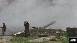 Возобновившиеся бои в Нагорном Карабахе
