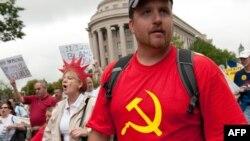 """Акция в поддержку """"Движения чаепития"""", Вашингтон, 12 сентября 2010 г"""