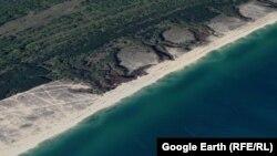 """Част от плажа и горите в местността """"Камчийски пясъци"""""""