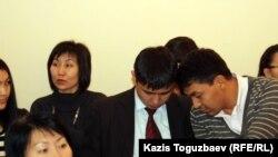 Участники конференции по правам человека в Казахском национальном аграрном университете. Алматы, 8 декабря 2011 года.