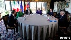 Участники саммита «Большой семерки», прибывшие в Квебек. 8 июня 2018 года.