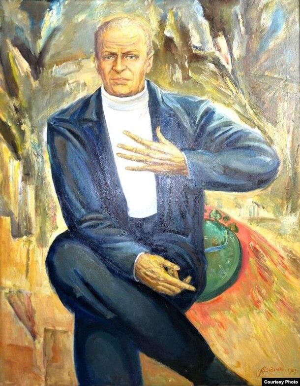 Аляксей Кузьміч. Партрэт Віктара Турава. 1989 г. З архіву А. Туравай