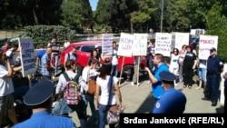 Mirni protest protiv pasivnosti Vlade Crne Gore, Podgorica, 12. septembar 2015.