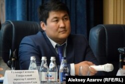 Жиынға келген әкімдік өкілі Әсет Масабаев. Алматы, 28 маусым 2018 жыл.