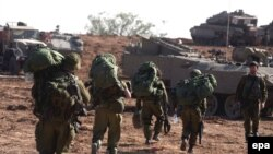 سربازان ذخیره اسرائیلی در نوار غزه. (عکس: Afp)