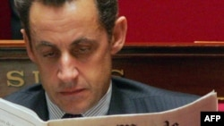 The labor action is to protest reforms proposed by President Nicolas Sarkozy (in file photo).