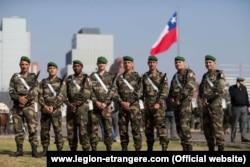 Францияның шетел легионы сарбаздары Чилиде,