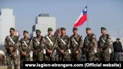"""Сарбозони """"Легиони хориҷӣ""""-и артиши Фаронса дар Чили"""