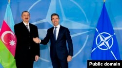 Azərbaycan prezident İlham Əliyev və NATO baş katibi Anders Fogh Rasmussen,Brüssel, 15 yanvar 2014