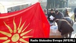Makedoniyada dil qanununa qarşı etirazlar