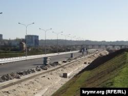 Дорога к Керченскому мосту, апрель 2018 года