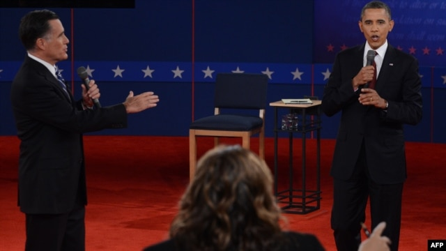 "The debate was in a ""town hall""-style format, with the candidates taking questions from the audience."