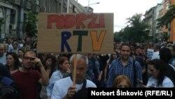 Sa jednog od protesta Podrži RTV