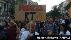 Protest #podrziRTV u Novom Sadu 13. juna