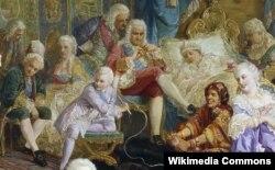 Валерий Якоби. Шуты при дворе императрицы Анны Иоанновны. Фрагмент