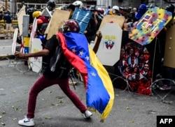 Бои с полицией в венесуэльском городе Мерида. Лето 2017 года