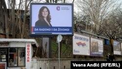 Elections bilbords in Belgrade, Serbia
