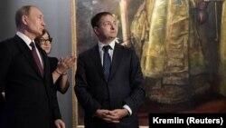 Владимир Мединский с Владимиром Путиным
