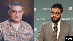 حمدالله محب مشاور امنیت ملی افغانستان و جنرال قمر جاوید باجوه لوی درستیز اردوی پاکستان